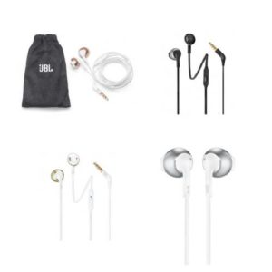 אוזניות JBL T205 In-Ear במגוון צבעים