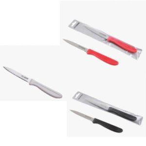 """פרו פירות - סכין 10 ס""""מ משוננת עם ידית במבחר צבעים ARCOSTEEL"""