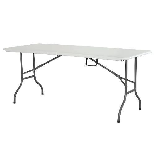 שולחן מזוודה מתקפל 1.80 מטר כתר לבן