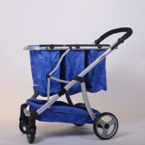 עגלת קניות גרין קארט בצבע כחול - חדש!!