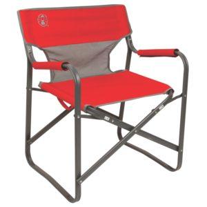 כסא דק פלדה - אדום