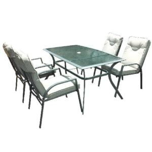 פינת ישיבה פיורינו + 4 כסאות 150/90